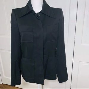 Yves Saint Laurent Black Lana Wool Jacket Size 40